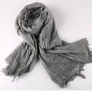 2017 retro old grey washed Scarves men winter new brand Fashion Design Scarf gift for Men Lady cozy