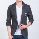 2016 Fashion embroidery Men\'s slim fit cotton blazer Suit Jacket  plus size L-5XL Male blazers Men\