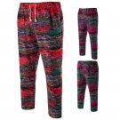 Ethnic Man Cotton Linen Casual Pants Plus Size Beach Pants Printing Casual Beach Pants for Men LB