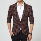 New fashion Popular Masculino Brand Mens Single Button Designs Slim Fit Casual Suits For Men Blazer