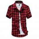 Red And Black Plaid Shirt Men Shirts 2017 New Summer Fashion Chemise Homme Mens Checkered Shirts Sho