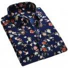 2017 Spring Floral Print Men Shirts Long Sleeve Mens Casual Shirt Slim Men Flower Printing Dress Shi