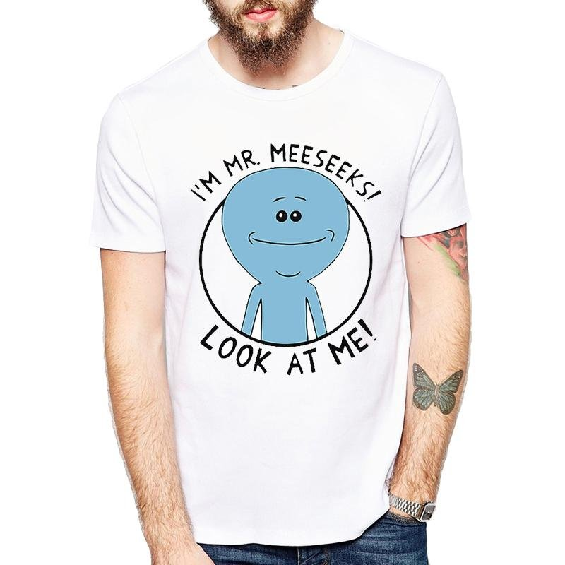 Rick and Morty Style t-shirt Mr.Meeseeks Rick and Morty comfortable Printed Tee T-Shirt Hot Tops t s