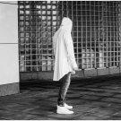 Mens Hooded T Shirt Hipster Hip Hop Streetwear Gold Side Zipper Men Extended Arc Cut Long Sleeve Tee