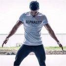 2017 New Summer Men T-shirt Short Sleeve Cotton Muscle Dr. Brothers Print ALPHALETE Fitness T Shirt