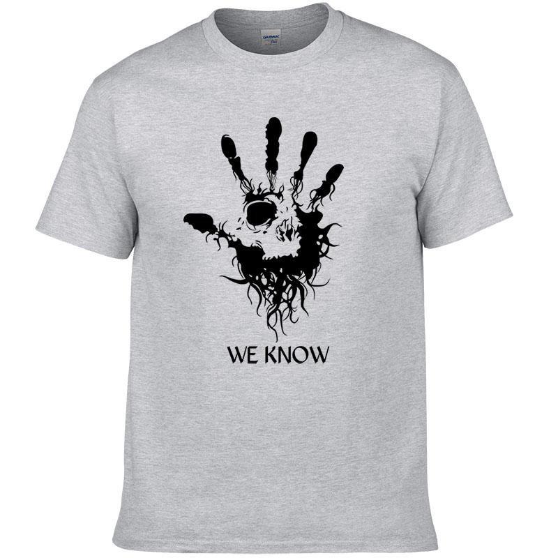 Skyrim Men\'s T-Shirt Letter Printed Cotton O-neck Fashion Top Shirt Summer Short Sleeves Casual Men