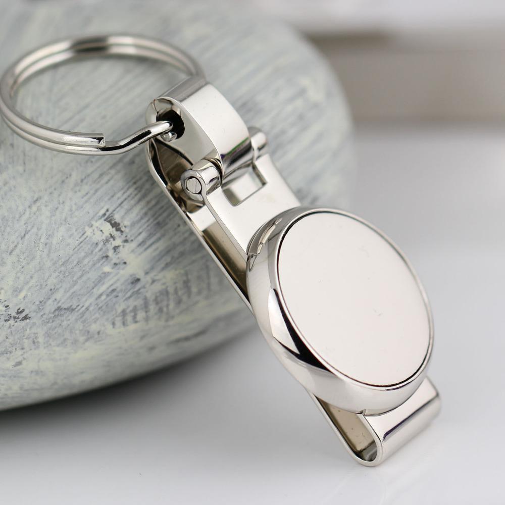circular round keychain key ring hanging key chain key holder clip on belt high quality sleutelhang
