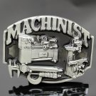 New Fashion Vintage Silver 3D Machinists Working Machinery Tools Trades Union Belt Buckle Men Gift J