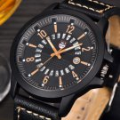 Fashion Men\'s Leather Band Watches Military Sport Analog Quartz Date Wrist Watch