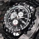 Men\'s Fashion Military Stainless Steel Analog Date Sport Quartz Wrist Watch