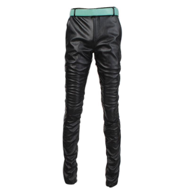 Top Selling Comfortable Male Slim Pencil Pants Solid Skinny Elastic Trousers Man Low Waist Breathabl