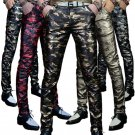 Men \'s leather trousers trousers Slim pants autumn new camouflage men\' s PU leather pants military