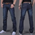 Fashion Men Casual Jeans Pants Slim Straight High Elastic Feet Jeans Middle Waist Long Trousers  H9