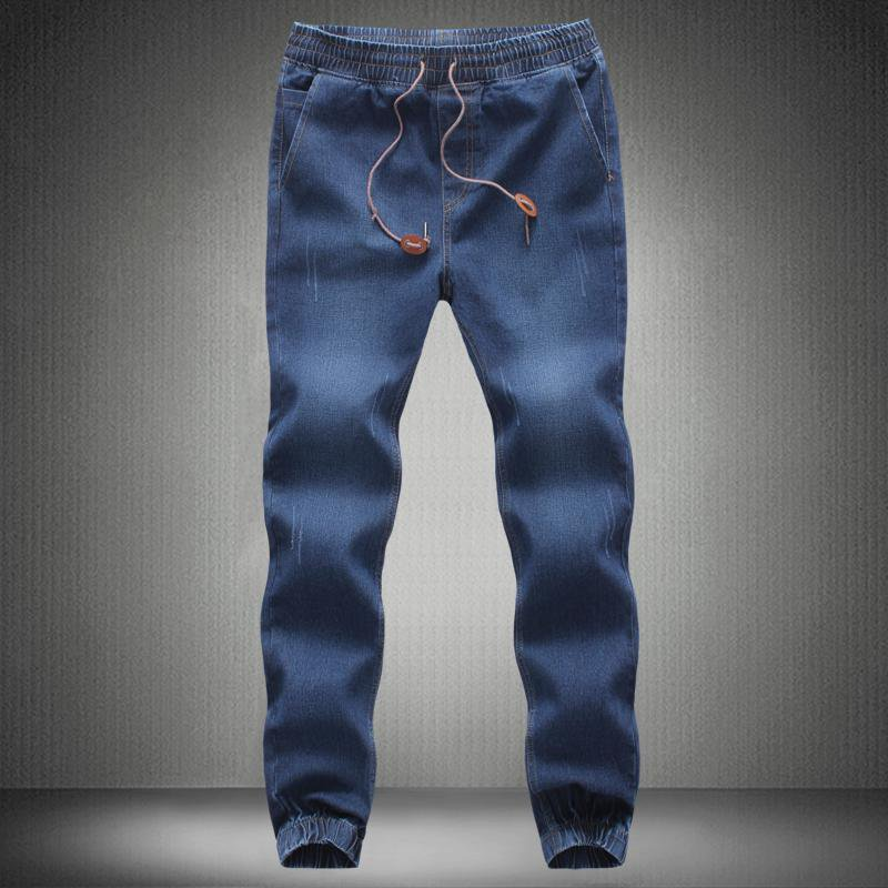 Men Jeans Pants 2017 New Brand Man Elastic Denim Joggers Male Slim Fit Jeans Trousers Mens Pencil Pa