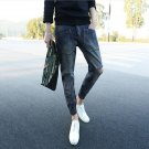 2016 Jeans Fashion Personality Hole Jeans Pants Men Cultivating Beam Literary men Feet Pants influx