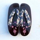 Women flip-flops summer sandals platform wedge rubber non-slip Japanese geta cosplay wooden slipper