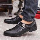 Business Men Formal Shoes Black / White Man Oxfords EU 39-44 Latest Style Pointed Toe Slip On Men Fa