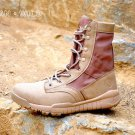Men Army Tactical Boots Winter Leather Military Ankle Boots Summer Desert safety Shoes Men\'s Footwe