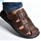 free shipping summer mens sandals slippers genuine leather sandals outdoor casual men leather sandal