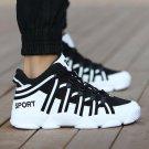 Men Shoes Casual Lace Up Canvas Shoes Men  Flats Shoes For Male Trainers Black