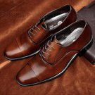 Men Shoes Business Dress Pointed Flats Shoes Genuine Leather Flat Brand Oxford Office Shoe For Men W
