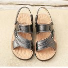 Men Sandals Shoes Fashion Genuine Leather Casual Summer Beach Slippers Men\'s Flats Footwear Zapatos