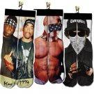 harajuku men/women socks 3d characters print emoji/2pac tupac/weed socks Printed Unisex Cotton funny