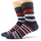 1Pairs Men\'s Socks Chaussette Striped Print Male Long Socks Long Men\'s Business Mens Dress Sock Me