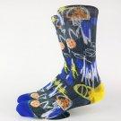 Men\'s Street Basket Ball Graffiti Printed Crew Skate Socks USA Size L( 9-12) ,Euro Size 42-45 (Non