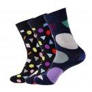 New Winter Funny Socks Men Big Dot Print Novelty Socks Cotton Long Colorful Christmas Business Man D