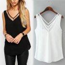 New Womens Tops Fashion 2017 Women Summer Chiffon Blouse Plus Size S To 3XL Sleeveless Casual Shirt