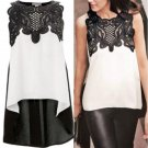 Women\'s Blouse Casual Sleeveless Chiffon Blouse Shirt Summer Tops Hot