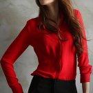 Summer Women Fashion Work Wear Elegant Formal Office Blouse Plus Size Top Slim Shirt