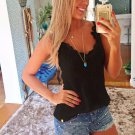 Fashion Women\'s Summer Lace Vest Tops Sleeveless Blouse Casual Tank Tops T-Shirt White