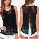 Casual Women Summer Lace Splice Vest Top Sleeveless Plus Size Women Blouses And Shirts Women Tops An