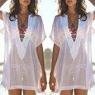 Women\'s Sexy See-through Beachwear Bikini Smock Sun-proof Blouse Tops