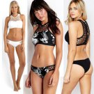 2017 New Arrival Sexy Fashion Hollow Out Bikini Women Swimwear Two Piece Triangle Swimsuit 8906