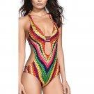 Women Bandage One Piece Brazilian bikini Monokini Push Up Padded Bra Swimwear Swimsuit summer #E0