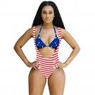 Summer Women Bikini Set Halter Push-up Padded Bra Swimsuit Swimwear Triangle Bathing Suit Monokini F