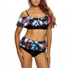 brazilian bikini push up Off Shoulder Swimwear Women print floral bikini women swims Bathing Suits w