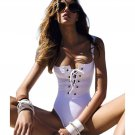Sexy  Swimwear Slim Hot One Piece Swimsuit For women Bandage Body Solid beach Swimwear One-Piece Swi