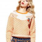 Elf SACK smoke spring fashion polka dot color block street print sweet long-sleeve sweatshirt female
