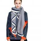 Women Fashion Autumn Winter Scarf Ladies Color Block Casual Stripe Chiffon Soft Neck Scarf Girls Fas