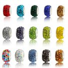20pcs/lot Beautiful Colorful Charm European Beads Fit For Pandora Style Bracelet or Necklace DIY Mak