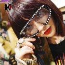 Decorated Oversize Women Sunglasses Fashion Men Red Lens Shades UV400