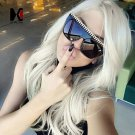 8 Colors Fashion Large Frame Personalized Hand Made Woven Sunglasses Cool Women Metal Chain Decorati