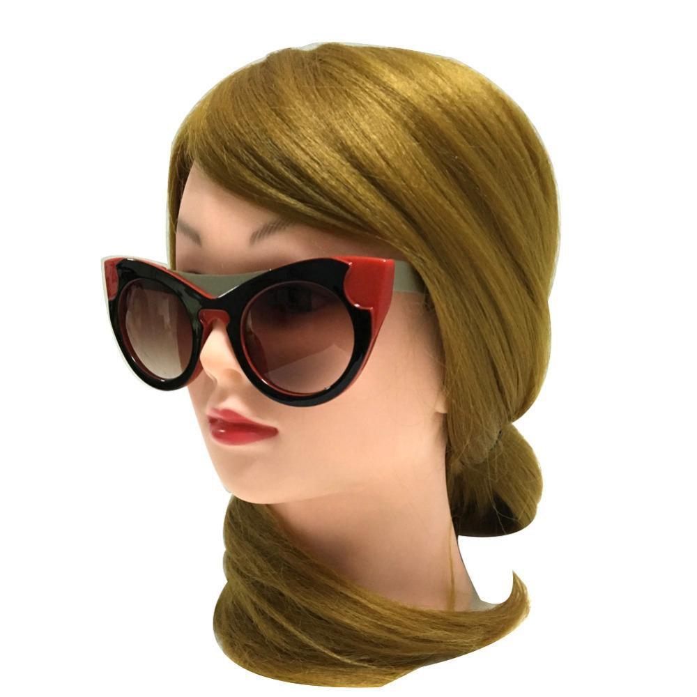 Sungalsses Women Vintage Retro Cat Eye Eyewear Brand Designer Luxury Sunglasses Women Ladies Girls 4