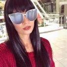 Cateye Women Men Big Frame Alloy Sunglasses Brand Designer Vintage High Quality Sunglasses UV400-Pro