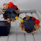 fashion high-end women flower brand sunglasses gold leaf Baroque carved roses carved female vintage
