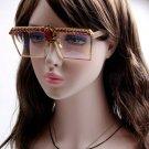 MONIQUE Queen Style 2017 Sunglasses Women Brand Designer Rhinestone transparent lens Sunglasses Over